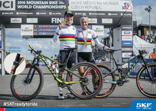 SKF Sponsored riders. World XCO MTB champion Nino Shurter